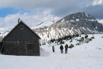 Foto Pfaffing Hütte im Winter